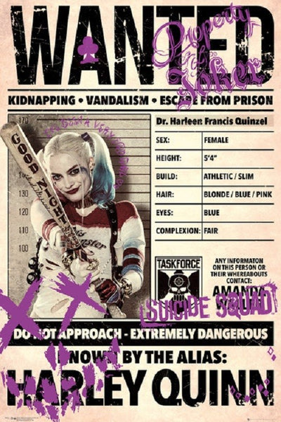 Harley Quinn Wanted Poster