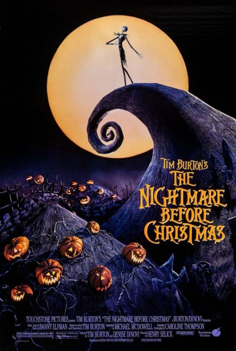 Nightmare Before Christmas Movie Poster, Size 24x36