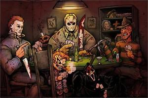 Slashers Playing Cards 24x36 Poster