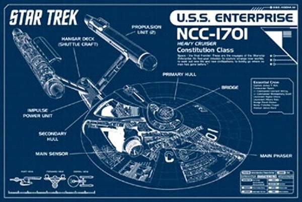 Star Trek Blueprint (24x36)