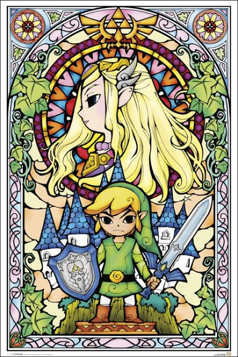 Zelda Stained Glass Poster 24x36