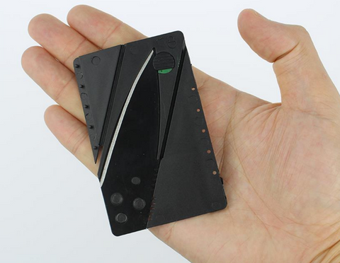 Credit Card Knife - Mini Wallet Camping Outdoor Pocket Tool And Tactical Knife