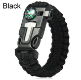FREE 5 In 1 Survival Paracord Bracelet - Whistle, Fire Starter, Compass, Scraper, & Paracord