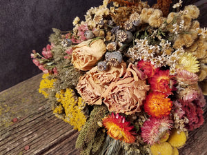 Dried Flowers, Yellow Sampler Bouquet