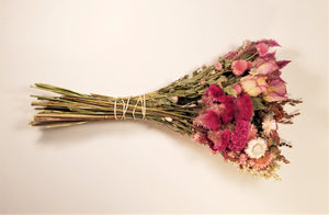 Dried Flowers, Pink Sampler Bouquet