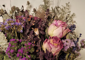 Dried Flowers, Purple Sampler Bouquet