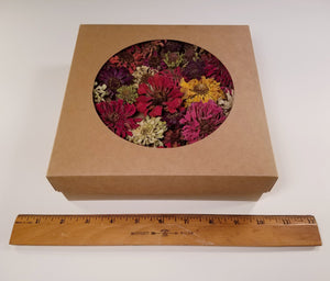 Dried Zinnia Flowers in Large Gift Box