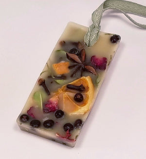 Citrus and Spice Scented Wax Sachet - Botanical Wax Sachet