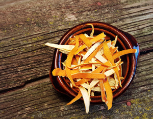 Dried Orange Peel Ribbons