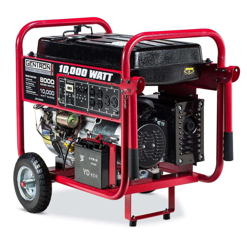 Gentron GG10020C 8000W/1000W Electric Start Portable Gas Generator Carb Compliant New