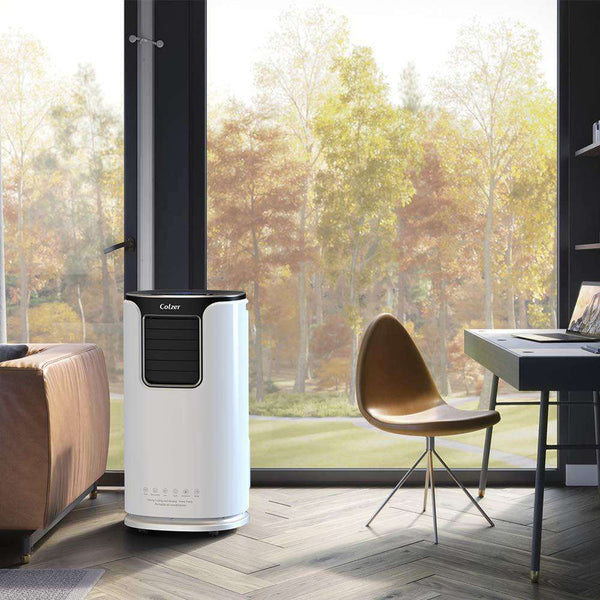 Colzer 14,000 BTUS Portable Air Conditioner,Window AC Unit Air Cooler Dehumidifier with Timer,Sleep Mode and 4 Fan Functions Speeds for Rooms up to 500 Sq .ft,Remote Control /& Washable Filter