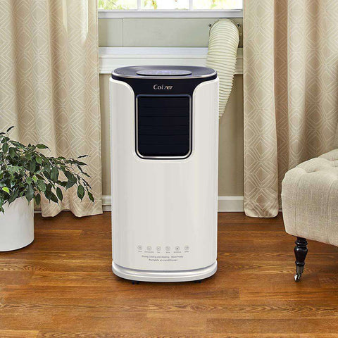 Colzer Colzer-002 14000 BTU Portable Air Conditioner Dehumidifier for Rooms up to 500 Sq .ft. with Remote Control and Washable Filter New