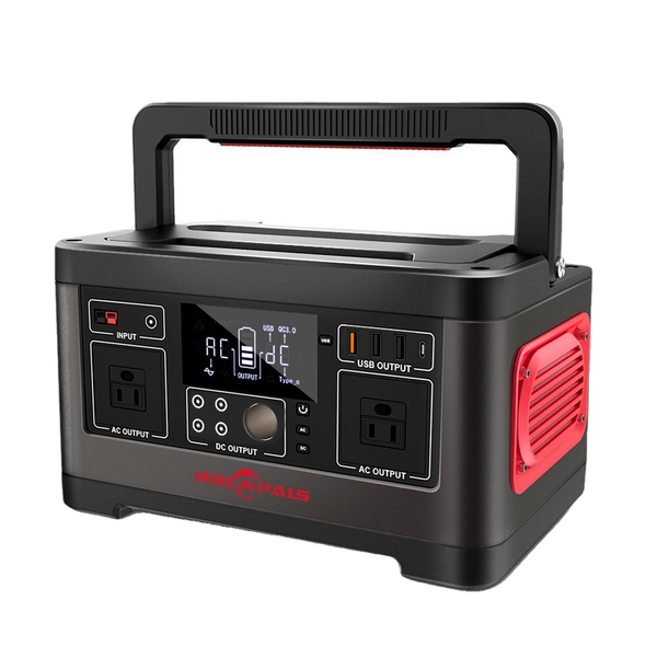 Rockpals RP500W 500W/520WH Portable Generator Lithium Portable Power Station New