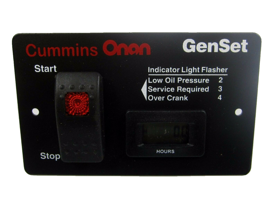 Cummins Onan Deluxe Remote Start Panel with Hour Meter For 3.6-7kW RV Generators - 028-00022