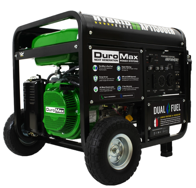 DuroMax XP11500EH 9000W/11500W Dual Fuel Electric Start Generator New