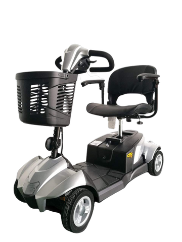 EV Rider CityCruzer 4 Wheel Electric Travel Scooter Silver Open Box
