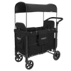 WonderFold Baby W2 Multi-Function Folding Double Stroller Wagon with Removable Canopy and Seats Black New