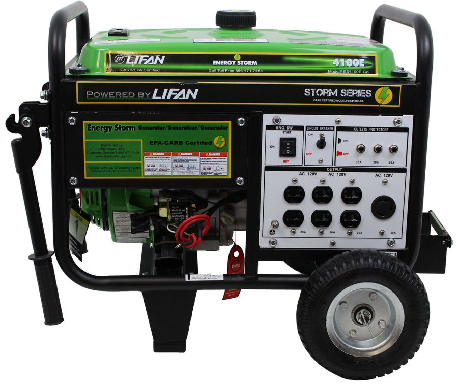 Lifan ES4100E Energy Storm 3500W/4100W Electric Start Generator Manufacturer RFB