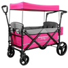 WonderFold Baby X2 Push/Pull 2-Passenger Double Stroller Wagon Pink New