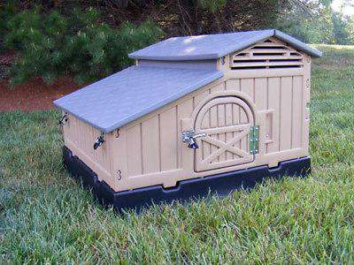 Snap Lock Formex Regular Plastic Chicken Coop Standard Size New