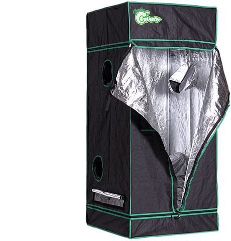 Hydro Crunch D940008500 2.5 ft. x 2.5 ft. x 6 ft. Heavy Duty Grow Room Tent New