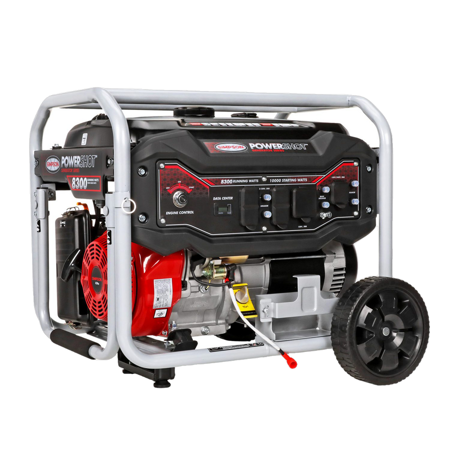 Simpson SPG8310E 8300W/10000W 440cc Electric Start Gas Generator New