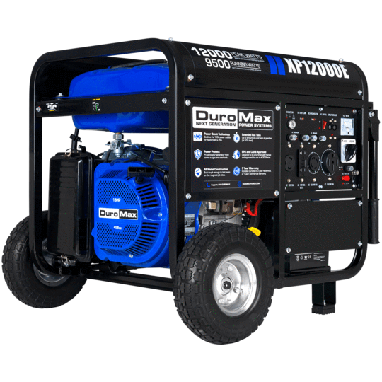 DuroMax XP12000E 9500W/12000W Gas 18 HP Electric Start Generator New