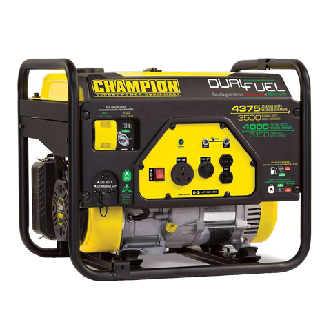 Champion 100401 3500W/4375W Dual Fuel Gas Generator Manufacturer RFB