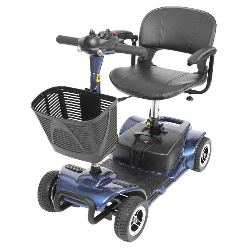 Vive Health MOB1027 4-Wheel Swivel Seat Mobility Scooter Blue New