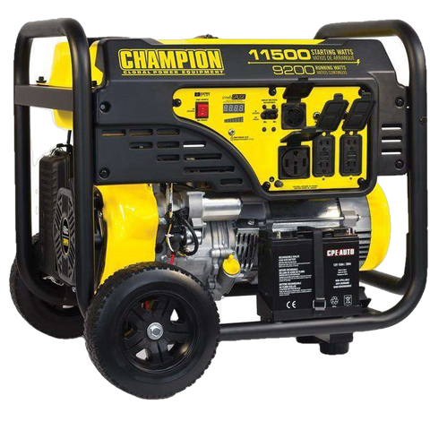 Champion 100110 9200W/11500W Electric Start Gas Generator New