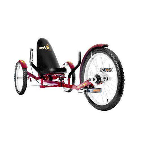 Mobo Triton Pro TR-501R Adult Ultimate Three Wheeled Cruiser Recumbent Bicycle 20 Red New