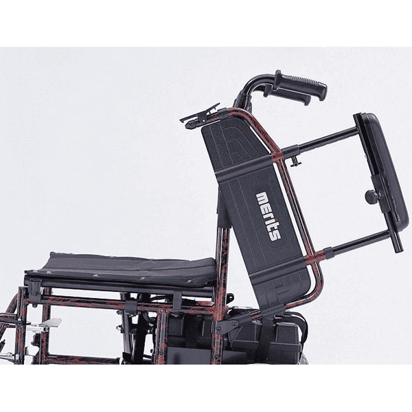Merits P101 18in Seat Width Travel-Ease Folding Power Chair New