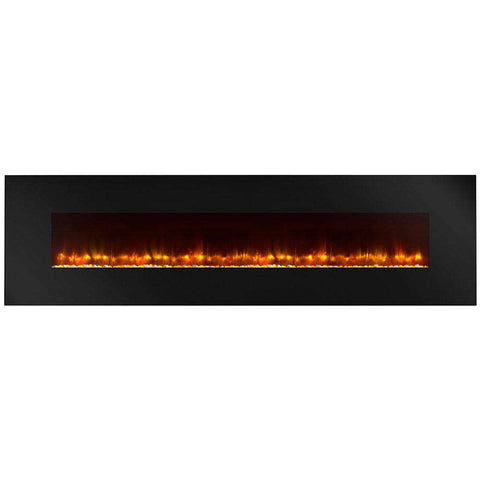 Hearth & Home SimpliFire SF-WM94-BK Linear Wall Mount 94 Inch Electric LED Fireplace New