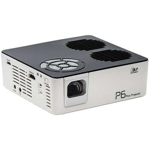AAXA P6 Pocket WXGA DLP Mini Pico Projector 720p Portable with Stereo Speakers 600 Lumens New