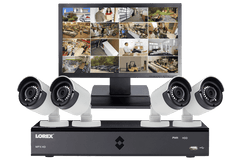 Lorex MPX44W 4 Camera 4 Channel HD 1080P Indoor/Outdoor DVR Surveillance Security System w/Monitor New