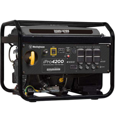 Westinghouse iPro4200 3500W/4200W Low THD Gas Generator New
