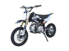 Ice Bear PAD125-1D Roost USD 125cc Dirt Bike 4 Speed Manual Kick Black with Blue New