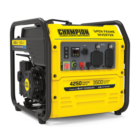 Champion 100302/200955 3500W/4000W Open Frame Inverter Gas Ultra Quiet Generator New
