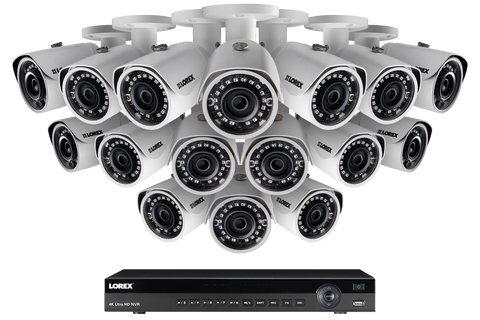 Lorex LN10804-1616W 16 Camera 16 Channel 4MP IP Outdoor Surveillance Security System New