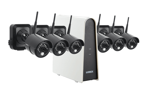 Lorex LWF1080BG1-66 Wire Free Battery 6 Camera 6 Channel Indoor/Outdoor Security Surveillance Open Box