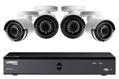Lorex LX1080-44BW HD 1080p Indoor/Outdoor 4 Camera 4 Channel DVR Surveillance Security System New