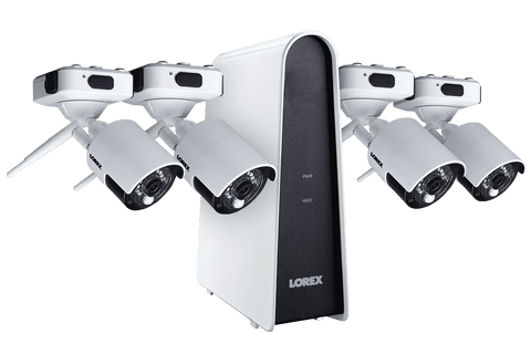 Lorex LHB80616GC4W Wire Free Battery Powered 4 Camera 6 Channel Indoor/Outdoor Security Surveillance System New