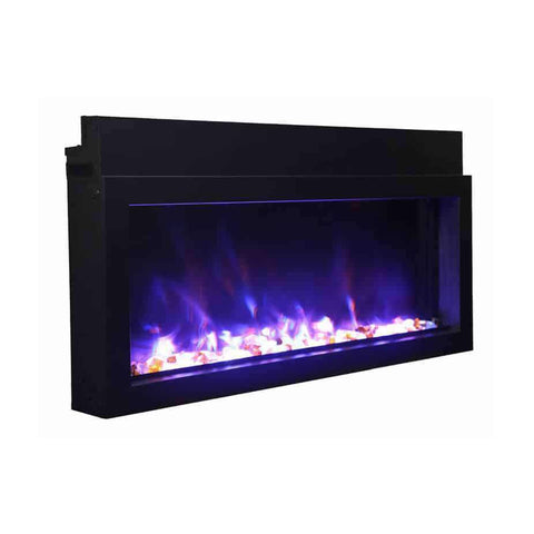 Amantii BI-30-XTRASLIM 30″ Extra Slim Indoor/Outdoor Built-In Electric Fireplace New
