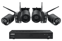 Lorex LWF2080B-64 Wire Free Battery Two-Way Audio 4 Camera 6 Channel Indoor/Outdoor Security Surveillance System New