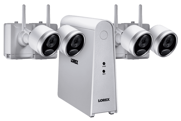 Lorex LWF1080W-64 Wire Free Battery Powered 4 Camera 6 Channel Indoor/Outdoor Security Surveillance System New
