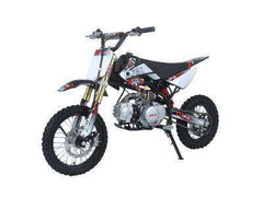 Ice Bear PAD125-1D Roost USD 125cc Dirt Bike 4 Speed Manual Kick Black with Red New