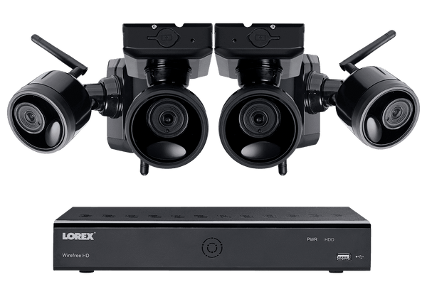 Lorex LWF1080B-64 Wire Free Battery Powered 4 Camera 6 Channel Indoor/Outdoor Security Surveillance System New