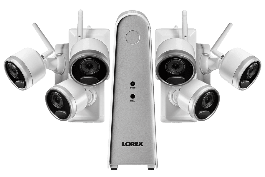 Lorex LWF1080W-66 Wire Free Battery Powered 6 Camera 6 Channel Indoor/Outdoor Security Surveillance System New