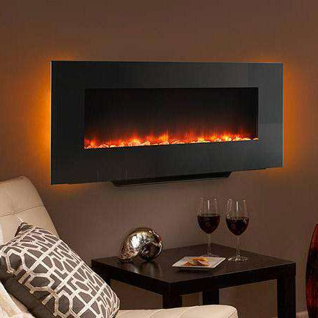 Hearth & Home SimpliFire SF-WMS38-BK Linear Wall Mount 38 Inch Electric LED Fireplace New