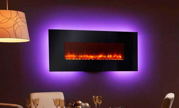 Hearth & Home SimpliFire SF-WM58-BK Linear Wall Mount 58 Inch Electric LED Fireplace New